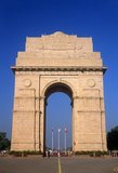 The India Gate, originally called the All India War Memorial, is a war memorial located astride the Rajpath, on the eastern edge of the 'ceremonial axis' of New Delhi, formerly called Kingsway.<br/><br/>  The names of some 70,000 Indian soldiers who died in World War I, in France and Flanders, Mesopotamia, and Persia, East Africa, Gallipoli and elsewhere in the near and the far-east, between 1914–19, are inscribed on the memorial arch. In addition, the war memorial bears the names of some 12,516 Indian soldiers who died while serving in India or the North-west Frontier and during the Third Afghan War.<br/><br/>  The India Gate war memorial, the architectural style of which has been compared with the Gateway of India in Bombay, and the Napoleonic Arc de Triomphe in Paris, was designed by Sir Edwin Lutyens.